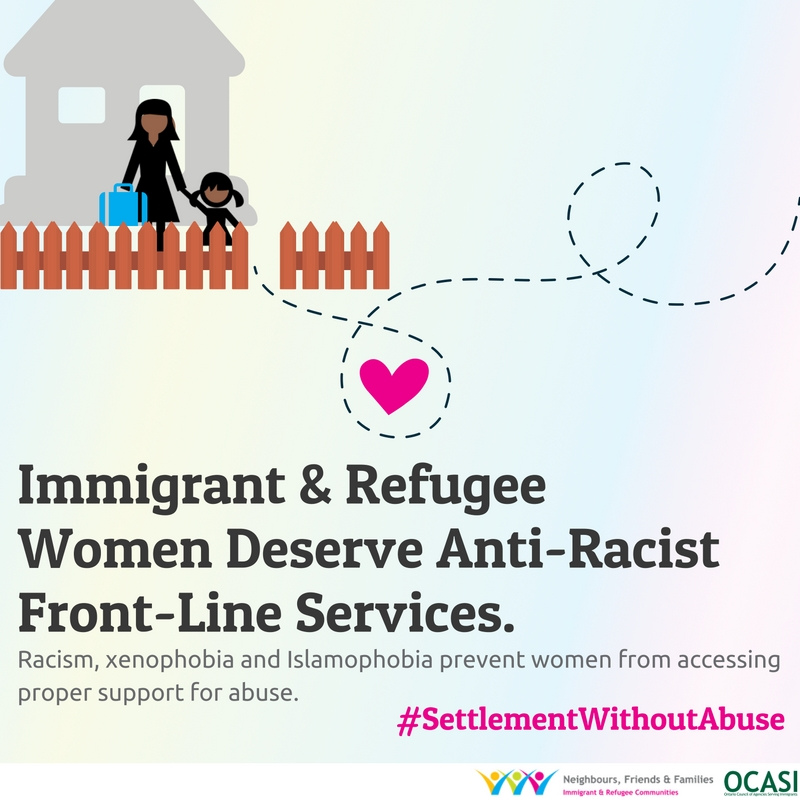 Settlement without abuse: Immigrant & refugee women deserve anti-racist front-line services