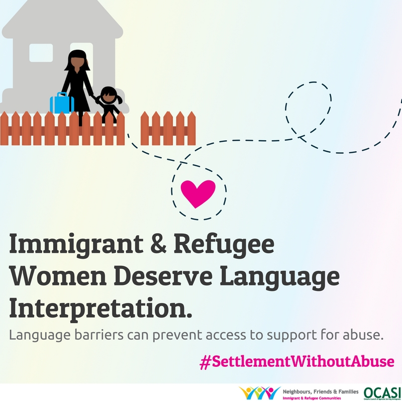 Graphic settlement without abuse: Immigrant & refugee women deserve language interpretation